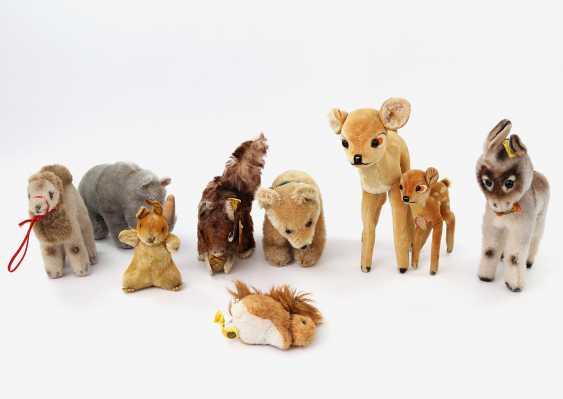 STEIFF, among other things, the lot of nine plush animals, 2.H. 20. Century, - photo 1