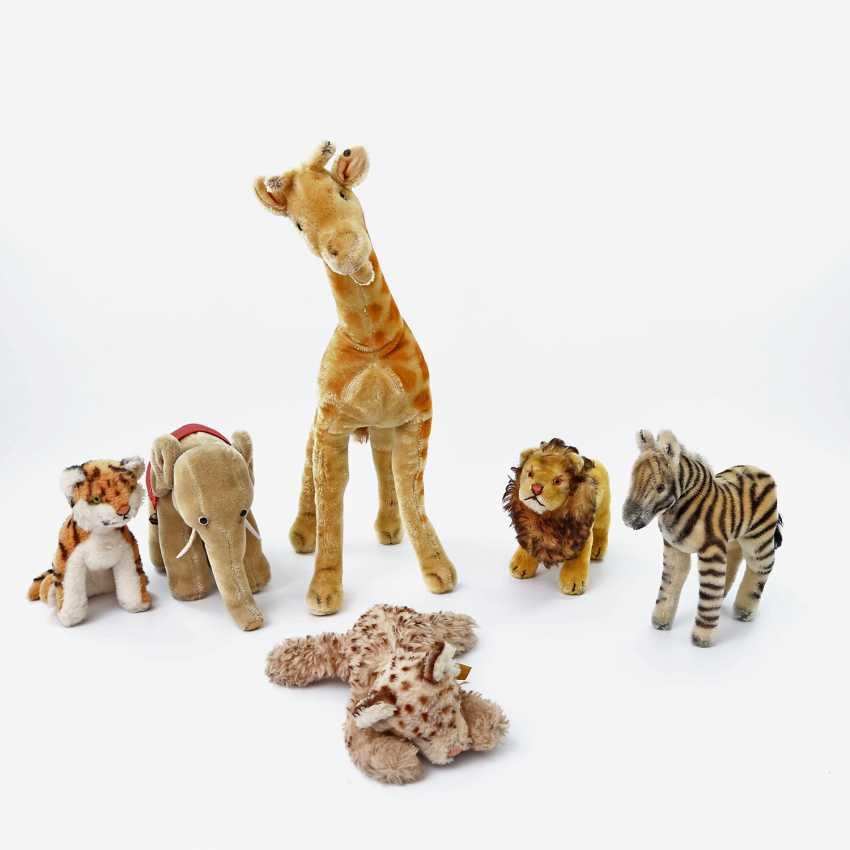 STEIFF mixed lot of six plush animals, 2.H. 20. Century, - photo 1