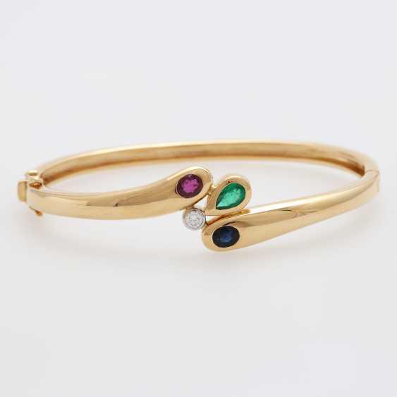Bangle m. sapphire, ruby, emerald & Diam occupied.-Brilliant - photo 1