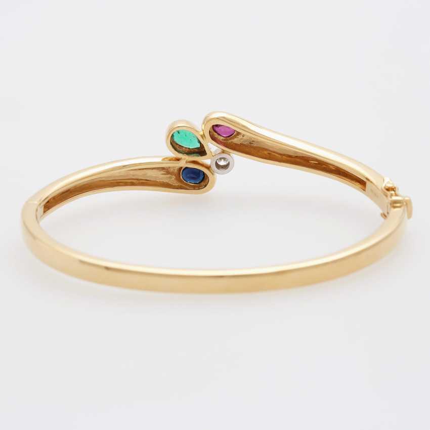 Bangle m. sapphire, ruby, emerald & Diam occupied.-Brilliant - photo 4