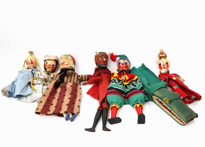 Collection of seven hand puppets, 1930s/50s, - photo 1