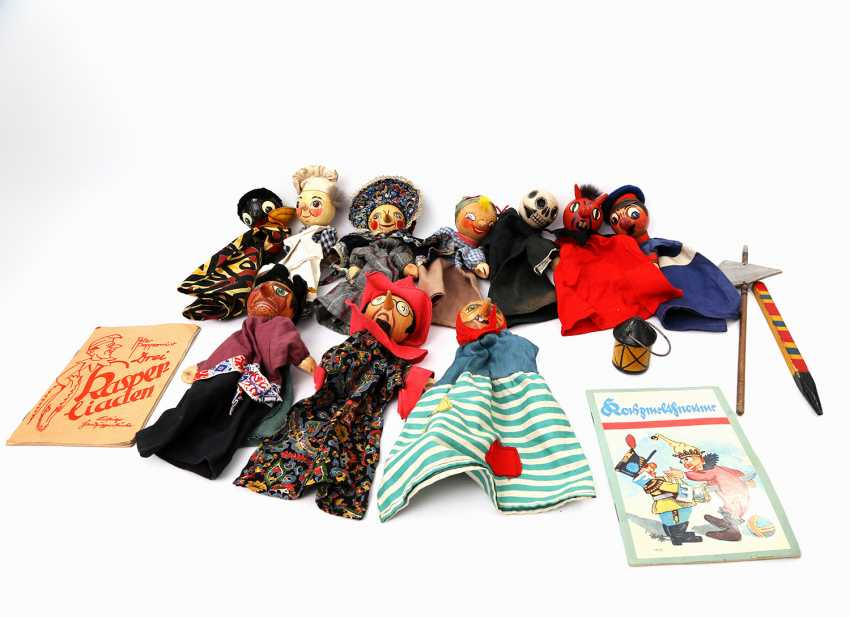 Collection of ten puppets, 1950s/60s, - photo 1