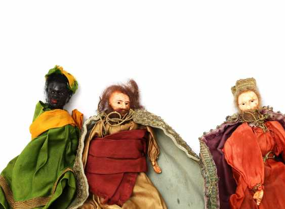 Six Nativity Figures, By The End Of 19th Century. Century, - photo 2