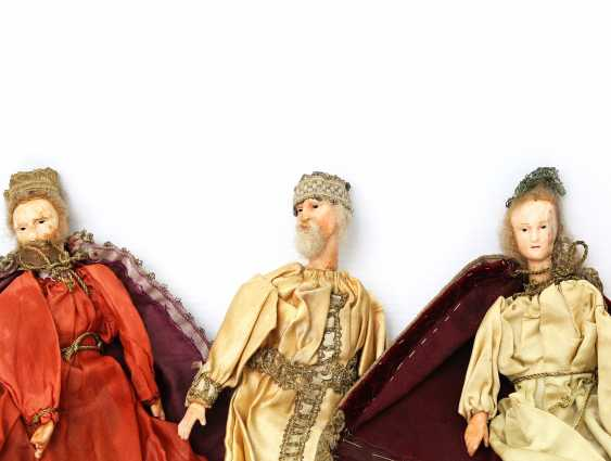 Six Nativity Figures, By The End Of 19th Century. Century, - photo 4