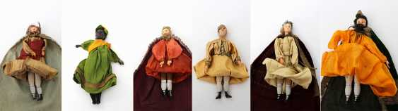 Six Nativity Figures, By The End Of 19th Century. Century, - photo 5