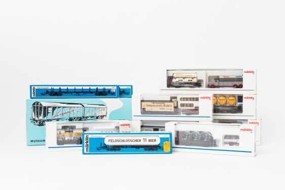 MÄRKLIN wagons, eight Museum and 3 freight wagons, gauge H0, - photo 1