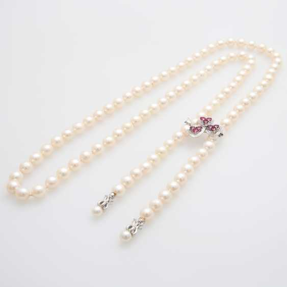 Necklace made of cultured pearls - photo 2