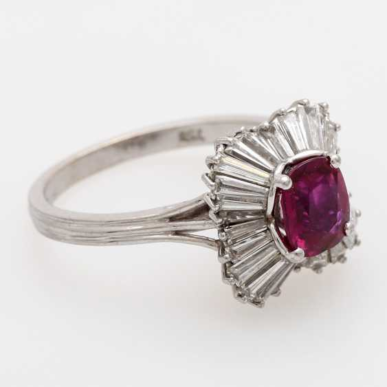 Ladies ring set with a fac. Rubin, - photo 2