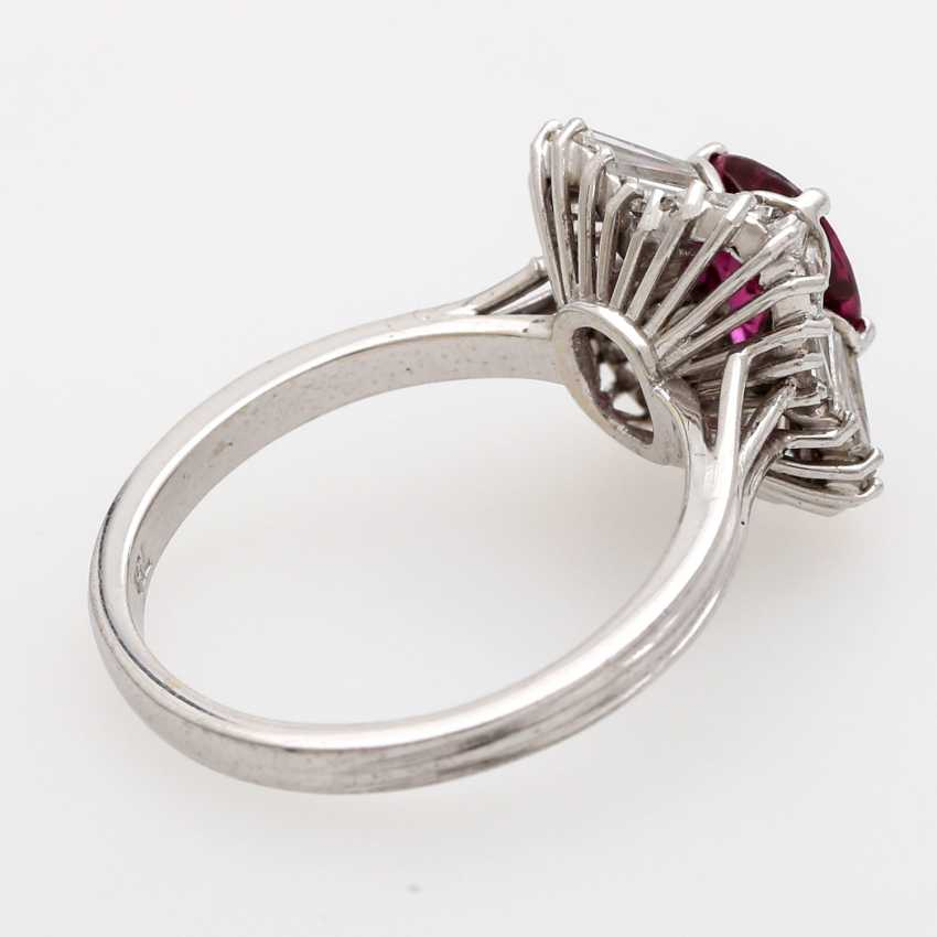 Ladies ring set with a fac. Rubin, - photo 3