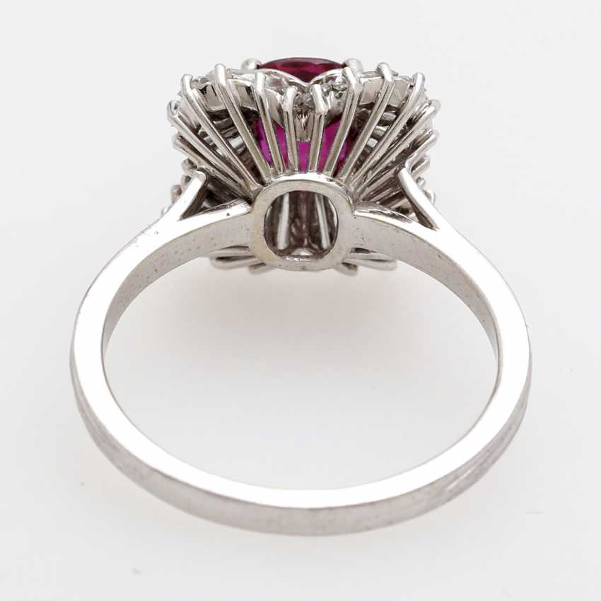Ladies ring set with a fac. Rubin, - photo 4