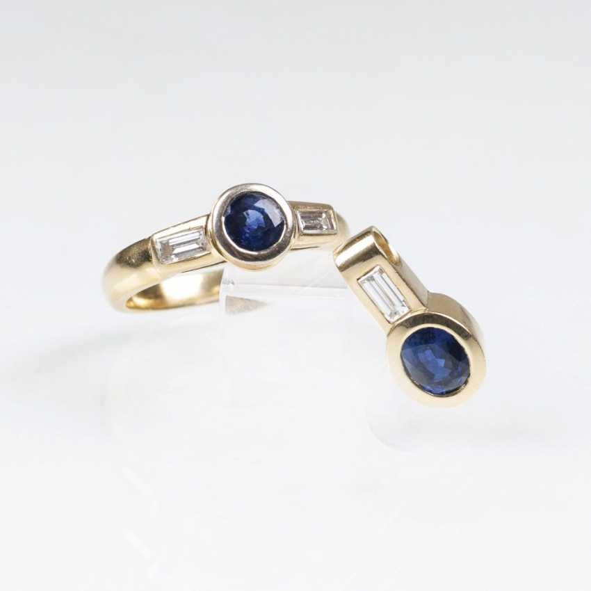 Sapphire and diamond Ring with matching pendant - photo 1