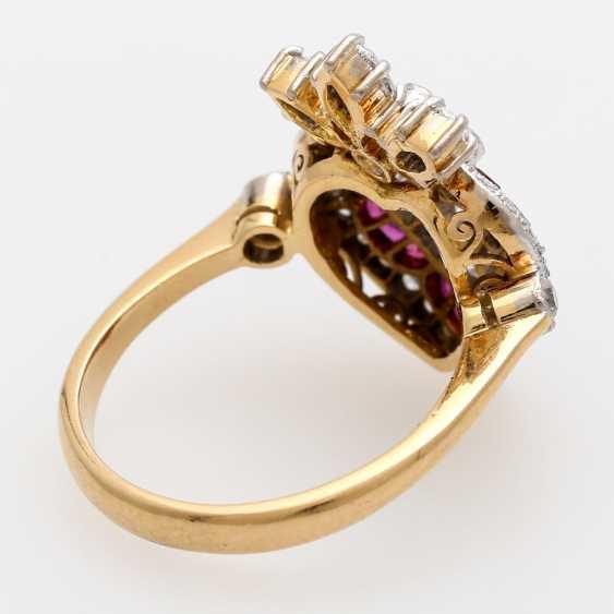 Дамы кольцо с бриллиантами и рубинами, - фото 3