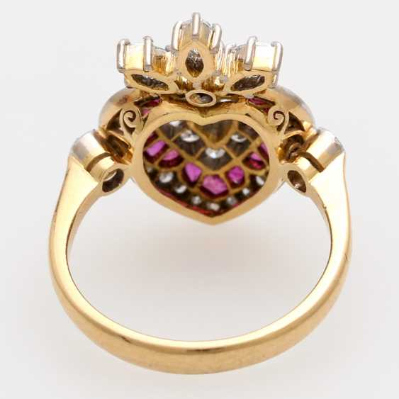 Дамы кольцо с бриллиантами и рубинами, - фото 4