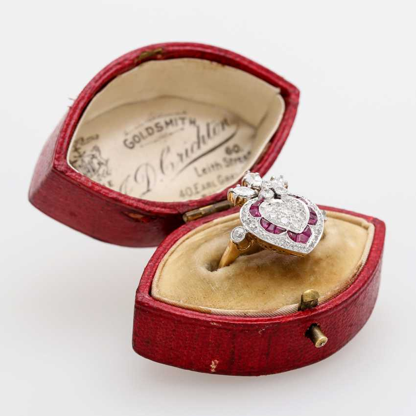 Дамы кольцо с бриллиантами и рубинами, - фото 5