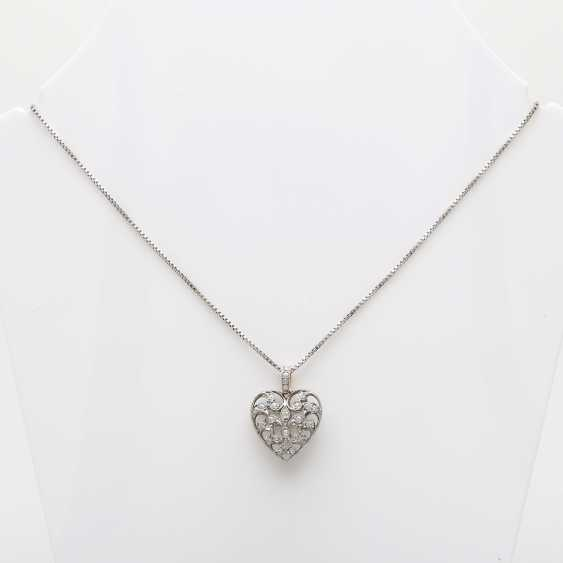 Heart pendant with chain. - photo 1