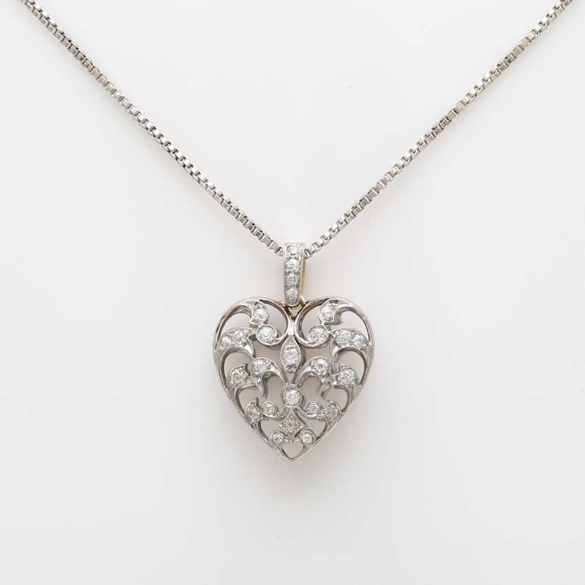 Heart pendant with chain. - photo 2
