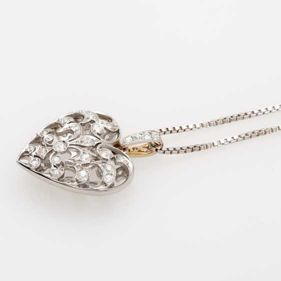 Heart pendant with chain. - photo 3