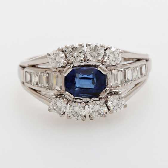 SHILLING ladies ring set with a fac. Sapphire - photo 1