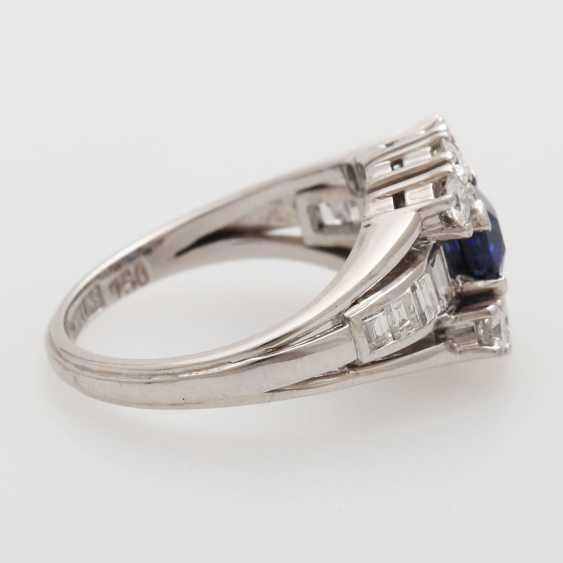 SHILLING ladies ring set with a fac. Sapphire - photo 2