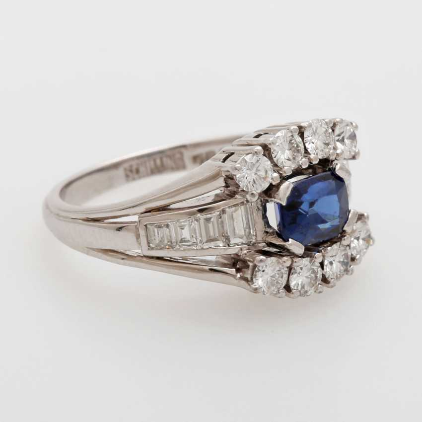 SHILLING ladies ring set with a fac. Sapphire - photo 3