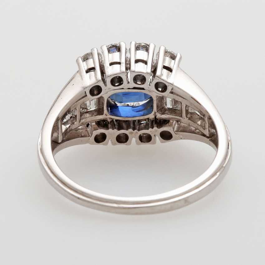 SHILLING ladies ring set with a fac. Sapphire - photo 4