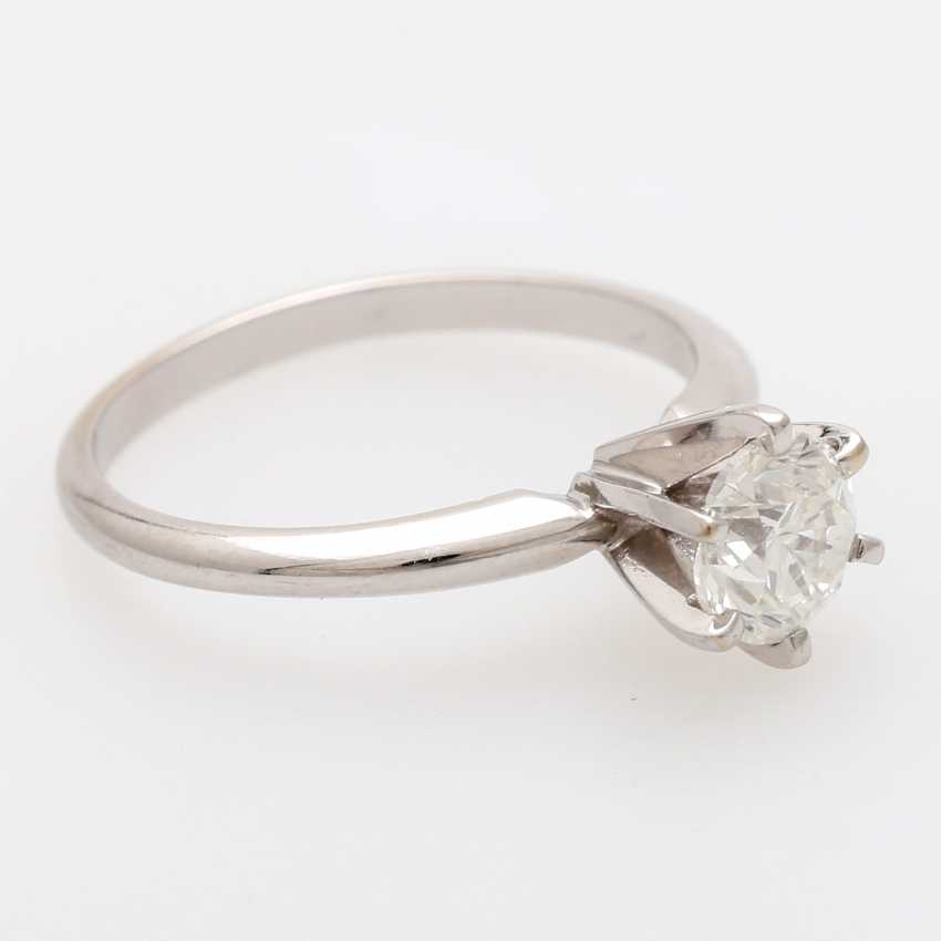 Solitaire ring m. 1 brilliant tenant of approximately 0.8 ct - photo 2