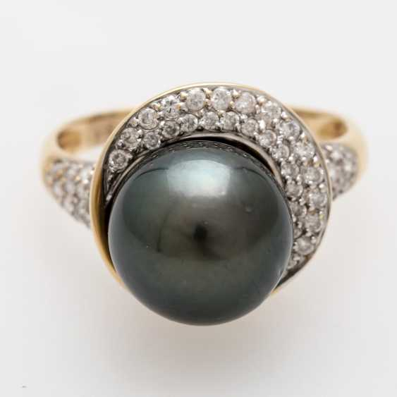 Women's ring-m. Tahitian cultured pearl - photo 4