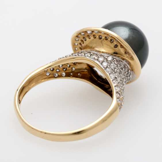 Women's ring-m. Tahitian cultured pearl - photo 2