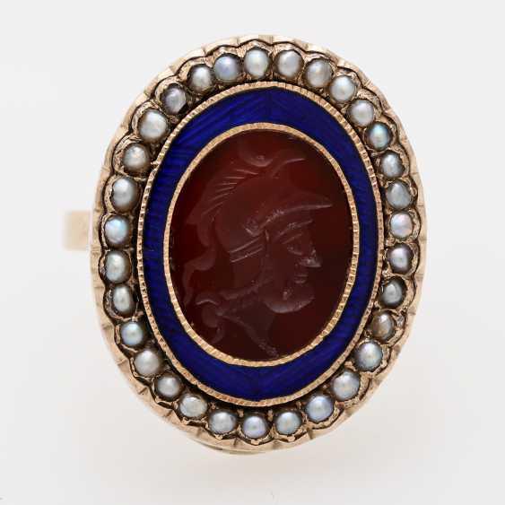 Ring around 1890 with carnelian Intaglio - photo 1