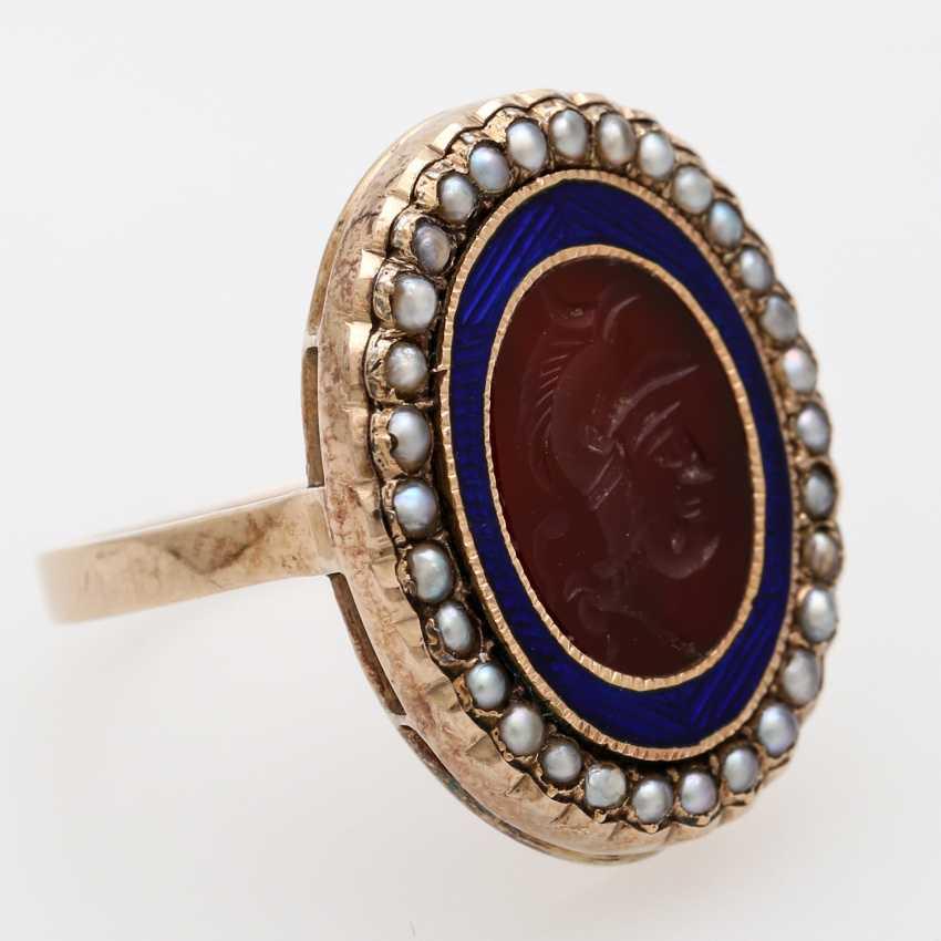 Ring around 1890 with carnelian Intaglio - photo 2