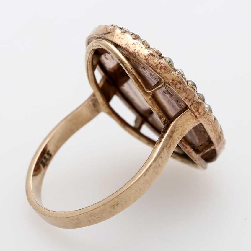 Ring around 1890 with carnelian Intaglio - photo 3