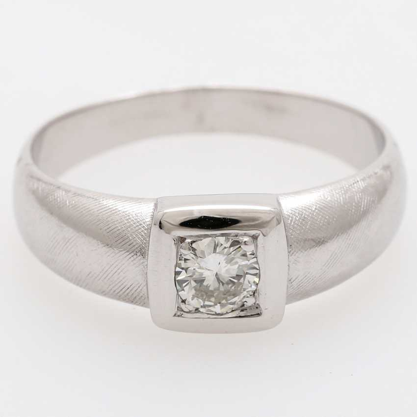 Solitaire ring m. 1 old European cut diamond of approximately 0.4 ct - photo 1