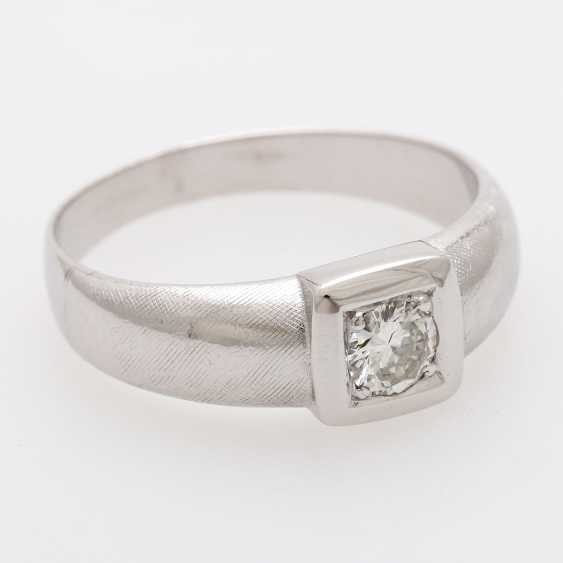 Solitaire ring m. 1 old European cut diamond of approximately 0.4 ct - photo 2