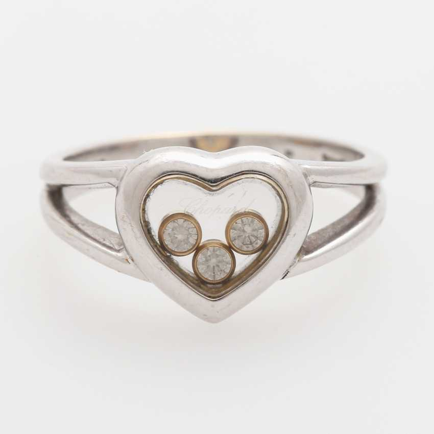 "CHOPARD Ring ""Happy Diamonds"" with 3 movable brilliant-cut diamonds; - photo 1"