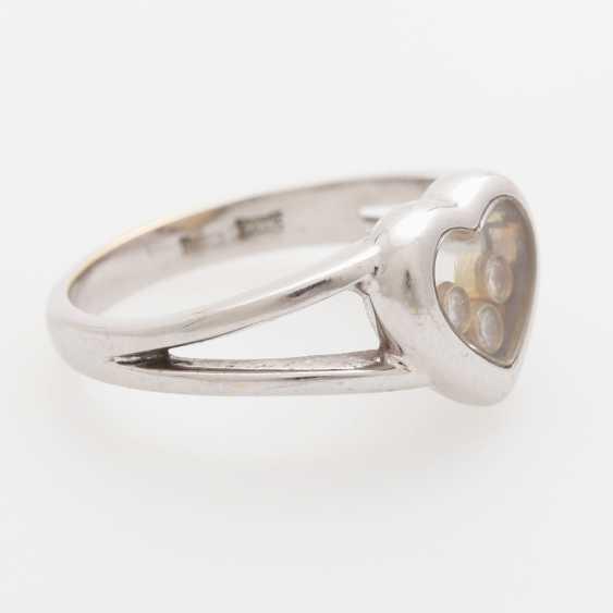 "CHOPARD Ring ""Happy Diamonds"" with 3 movable brilliant-cut diamonds; - photo 2"