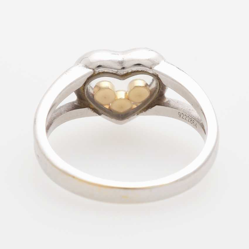 "CHOPARD Ring ""Happy Diamonds"" with 3 movable brilliant-cut diamonds; - photo 4"