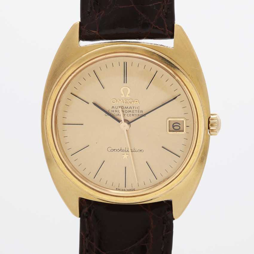 "OMEGA men's wrist watch ""Constellation"", CA. 1960's/70's, case in yellow gold 18K. - photo 1"