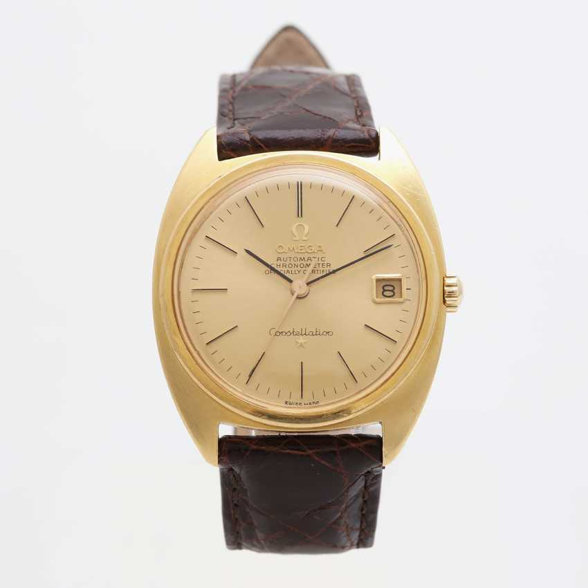 "OMEGA men's wrist watch ""Constellation"", CA. 1960's/70's, case in yellow gold 18K. - photo 4"