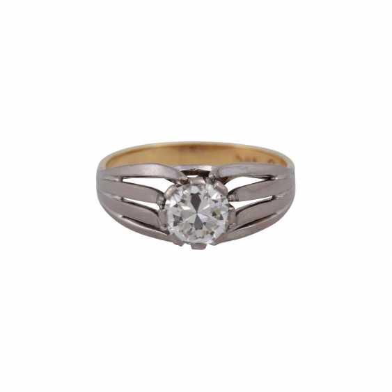 Пасьянс кольцо с altschliff алмаз, около 0,8 ct, БЕЛЫЙ (Ч)/VVS, - фото 1