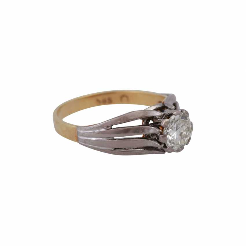 Пасьянс кольцо с altschliff алмаз, около 0,8 ct, БЕЛЫЙ (Ч)/VVS, - фото 2
