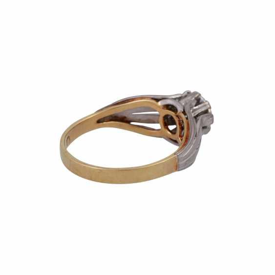 Пасьянс кольцо с altschliff алмаз, около 0,8 ct, БЕЛЫЙ (Ч)/VVS, - фото 3