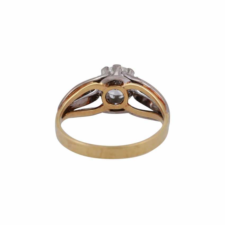 Пасьянс кольцо с altschliff алмаз, около 0,8 ct, БЕЛЫЙ (Ч)/VVS, - фото 4