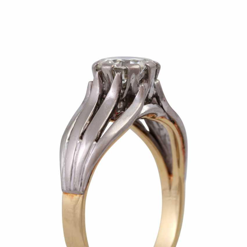 Пасьянс кольцо с altschliff алмаз, около 0,8 ct, БЕЛЫЙ (Ч)/VVS, - фото 5