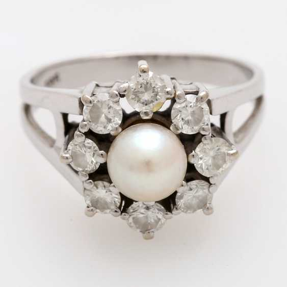 Ladies ring m. Akoya cultured pearl - photo 1