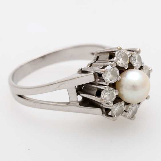 Ladies ring m. Akoya cultured pearl - photo 2