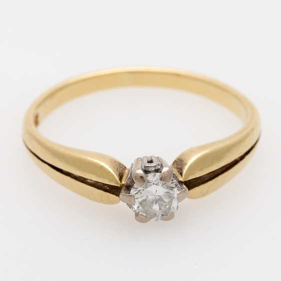 Solitaire ring m. 1 brilliant tenant of approximately 0.3 ct - photo 1
