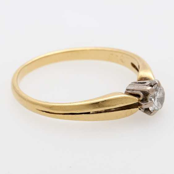 Solitaire ring m. 1 brilliant tenant of approximately 0.3 ct - photo 2