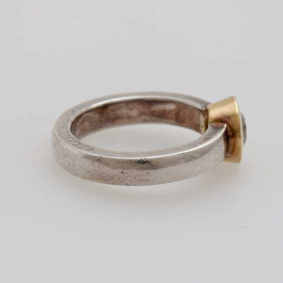 Solitaire ring studded with a Diam.-Brilliant - photo 3