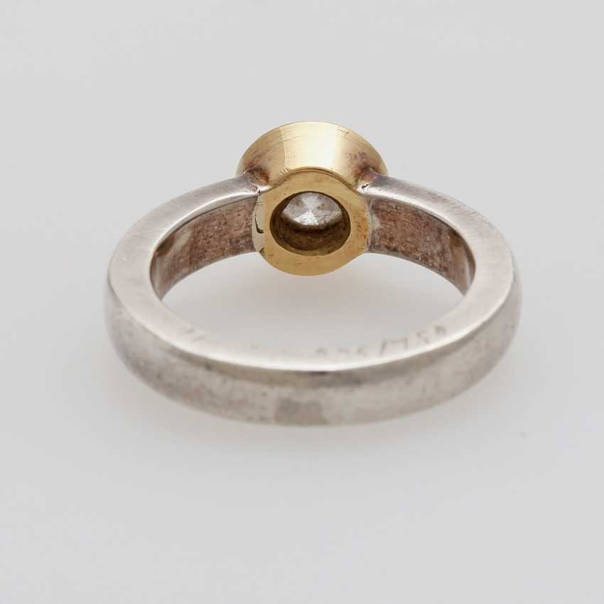 Solitaire ring studded with a Diam.-Brilliant - photo 4