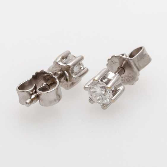 Stud earrings m. 2 brilliant tenanten together about 0.4 ct - photo 4